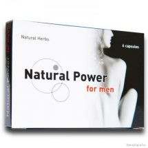 Natural Power For Men potencianövelő kapszula, 6 db