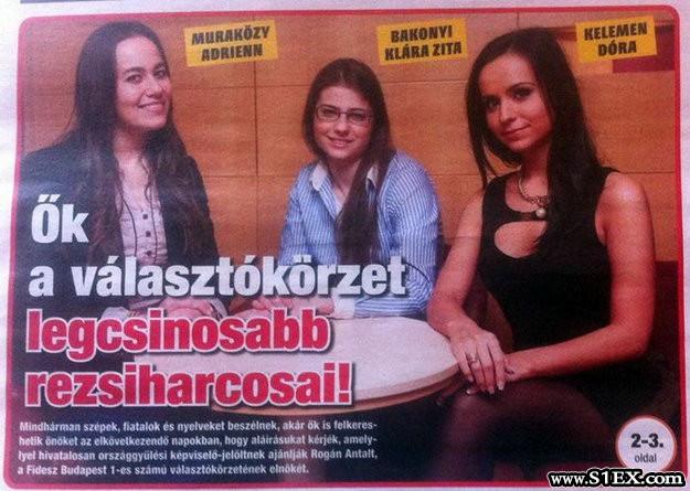 Rezsiharcosok a fiatal csinos nők